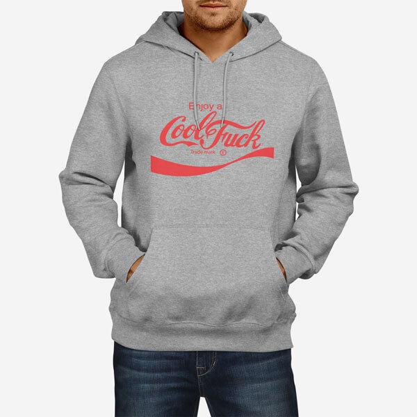 Moški pulover s kapuco Cool Fuck
