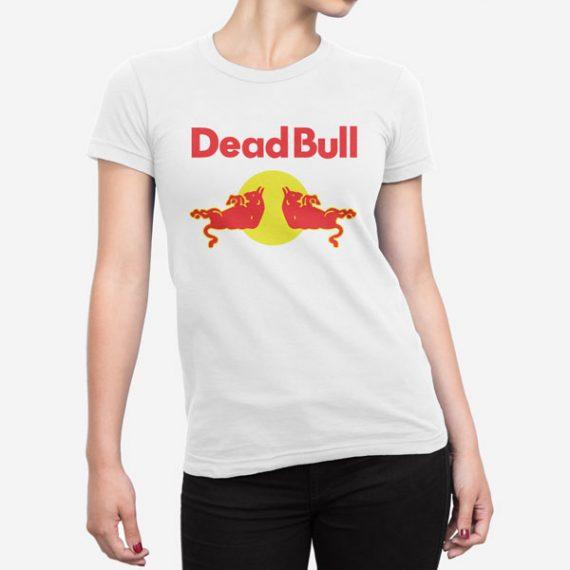 Ženska bela kratka majica Dead Bull
