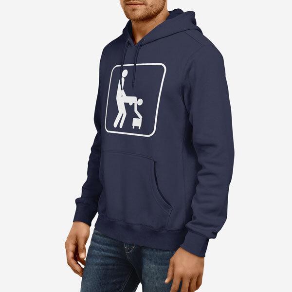 Moški pulover s kapuco Delam
