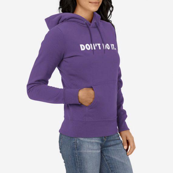 Ženski pulover s kapuco Ne stori