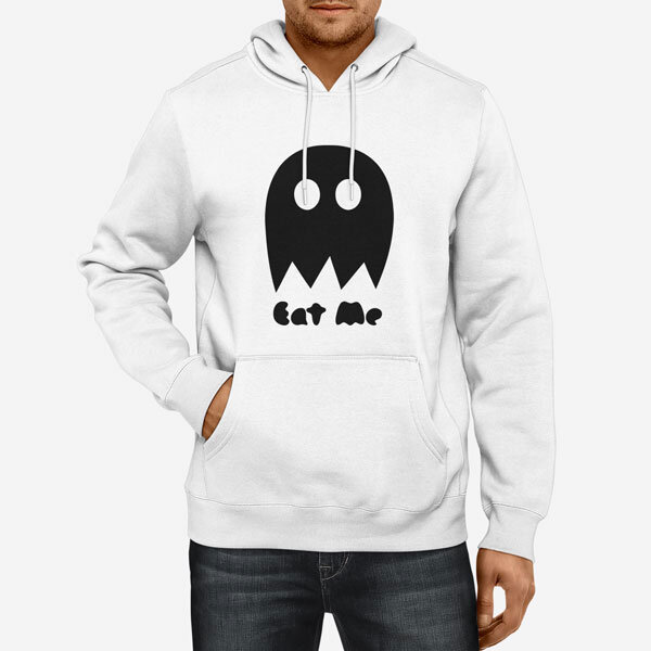 Moški pulover s kapuco Eat me