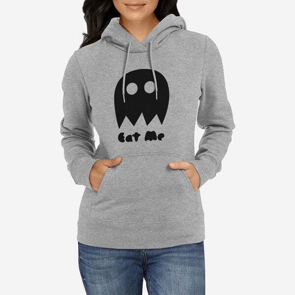 Ženski pulover s kapuco Eat me