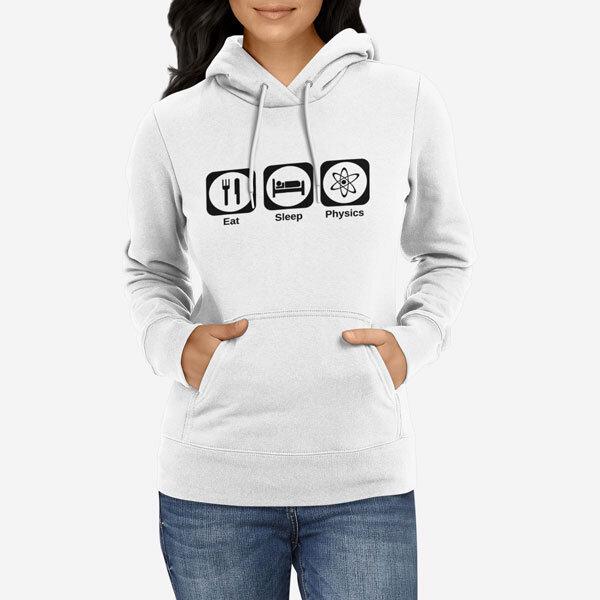 Ženski pulover s kapuco Eat Sleep Physics