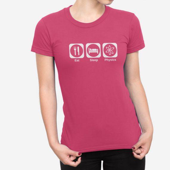 Ženska kratka majica Eat Sleep Physics