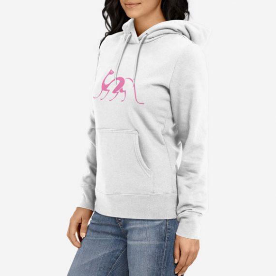 Ženski pulover s kapuco Elegantna