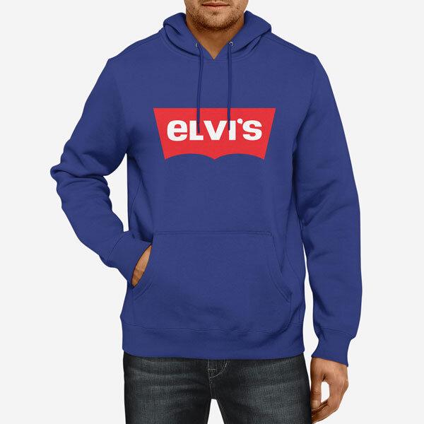 Moški pulover s kapuco Elvis