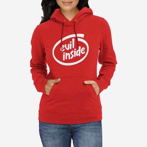 Ženski pulover s kapuco Evil Inside