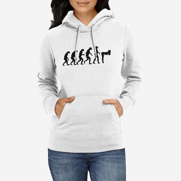 Ženski pulover s kapuco Evolucija Seksa