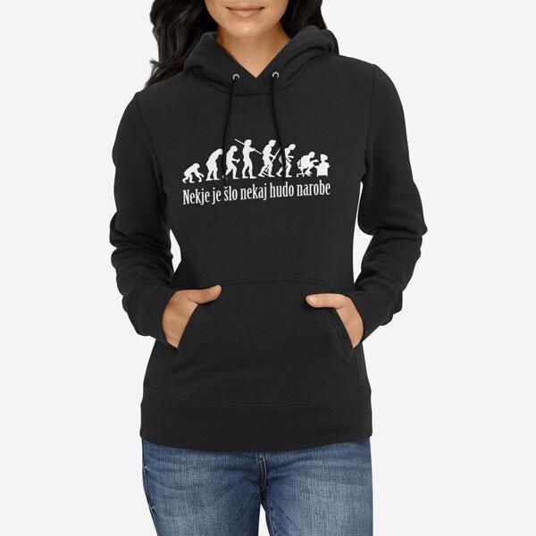 Ženski pulover s kapuco Evolucija