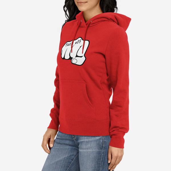 Ženski pulover s kapuco Fuck Off