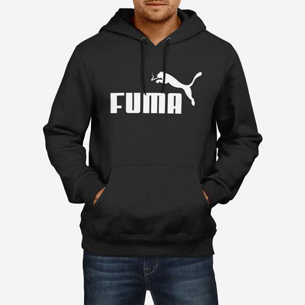 Moški pulover s kapuco Fuma