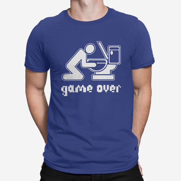 Moška kratka majica Game Over Drink