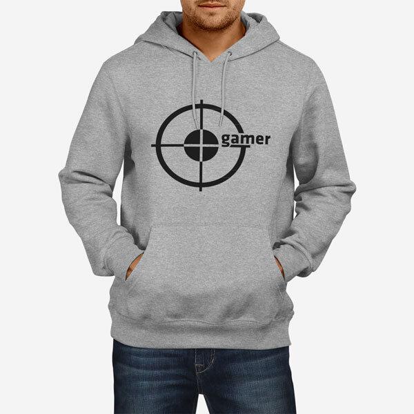 Moški pulover s kapuco Gamer
