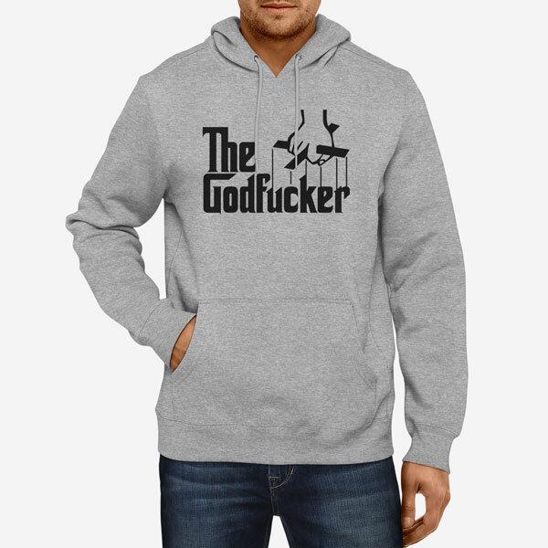 Moški pulover s kapuco The Godfucker