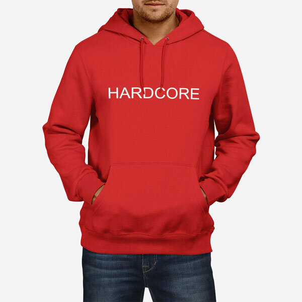 Moški pulover s kapuco Hardcore