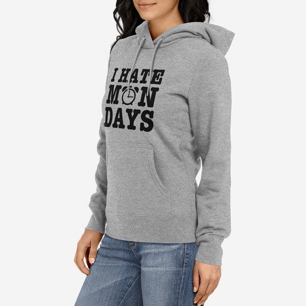 Ženski pulover s kapuco I Hate Mondays