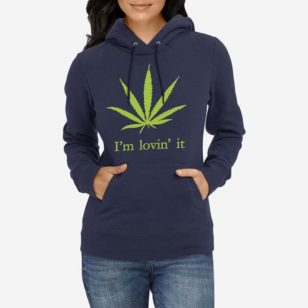 Ženski pulover s kapuco Lovin it