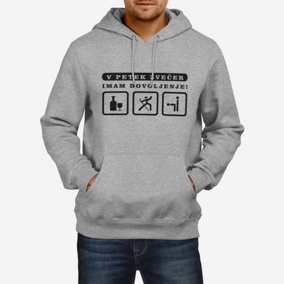 Moški pulover s kapuco Imam dovoljenje