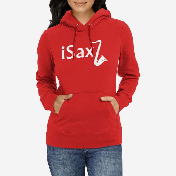 Ženski pulover s kapuco Saksofon