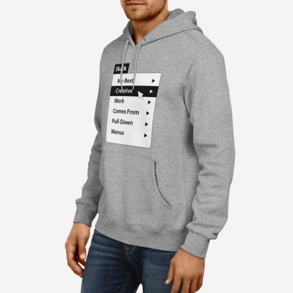 Moški pulover s kapuco Menu iSuck
