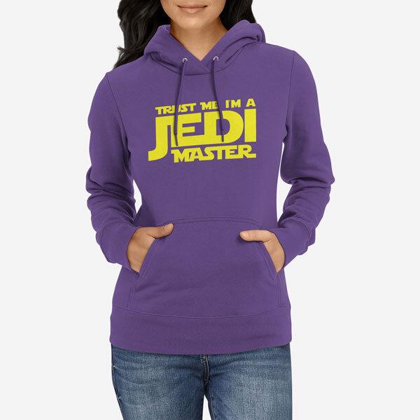 Ženski pulover s kapuco Jedi Master