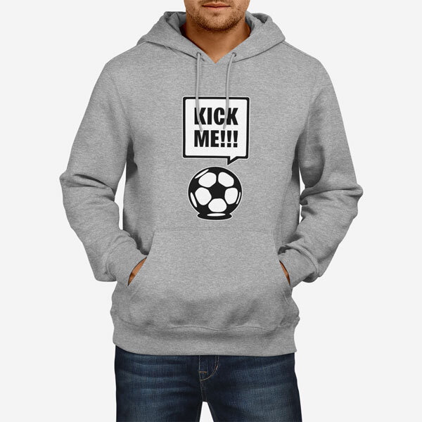 Moški pulover s kapuco Kick Me