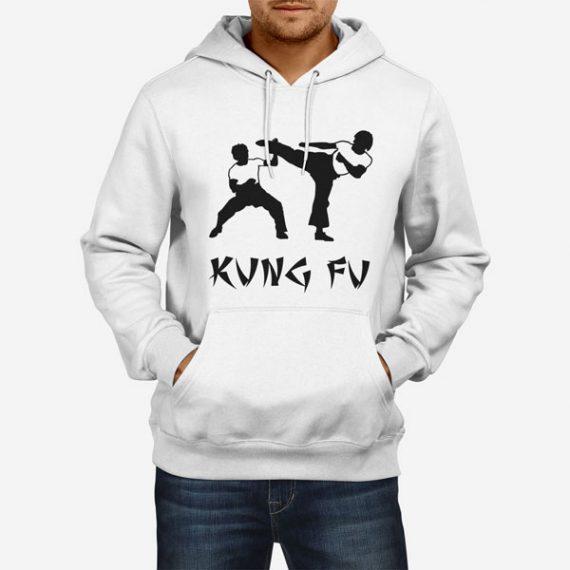 Moški pulover s kapuco Kung Fu