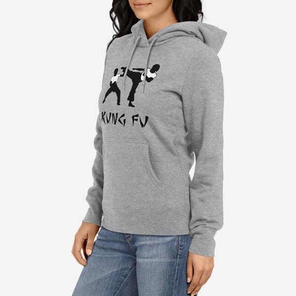 Ženski pulover s kapuco Kung Fu