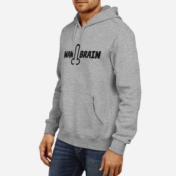 Moški pulover s kapuco Man Brain