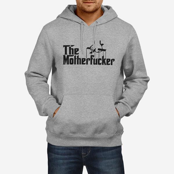 Moški pulover s kapuco The Motherfucker