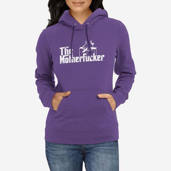 Ženski pulover s kapuco The Motherfucker