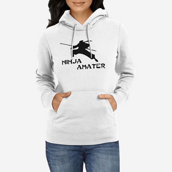 Ženski pulover s kapuco Ninja amater