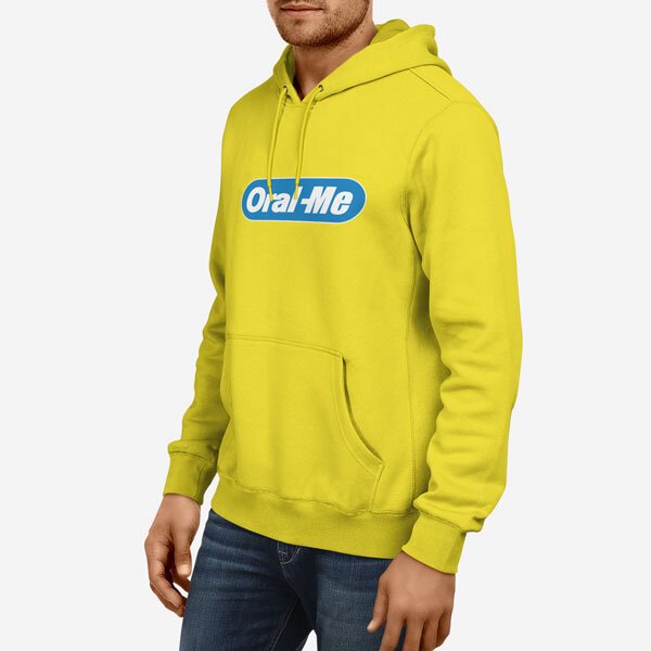 Moški pulover s kapuco Oral me