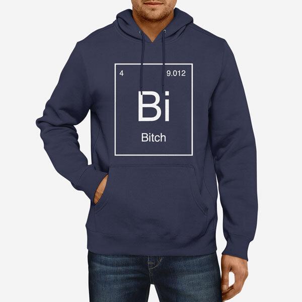 Moški pulover s kapuco Periodni element Bi