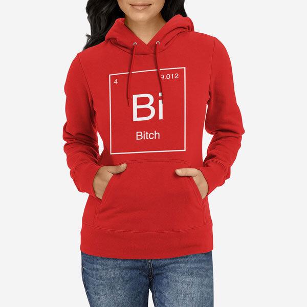 Ženski pulover s kapuco Periodni element Bi