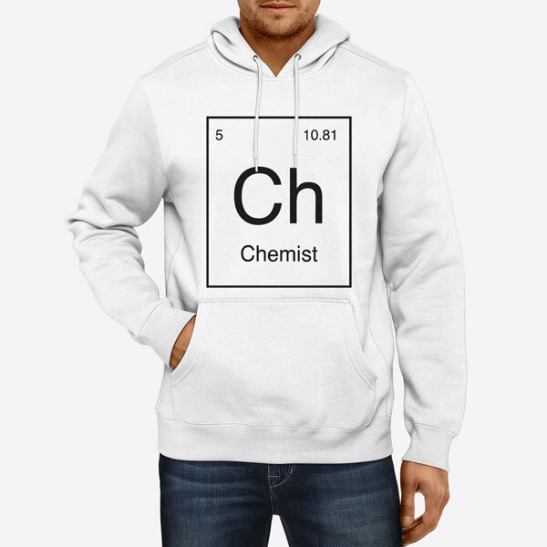 Moški pulover s kapuco Periodni element Ch