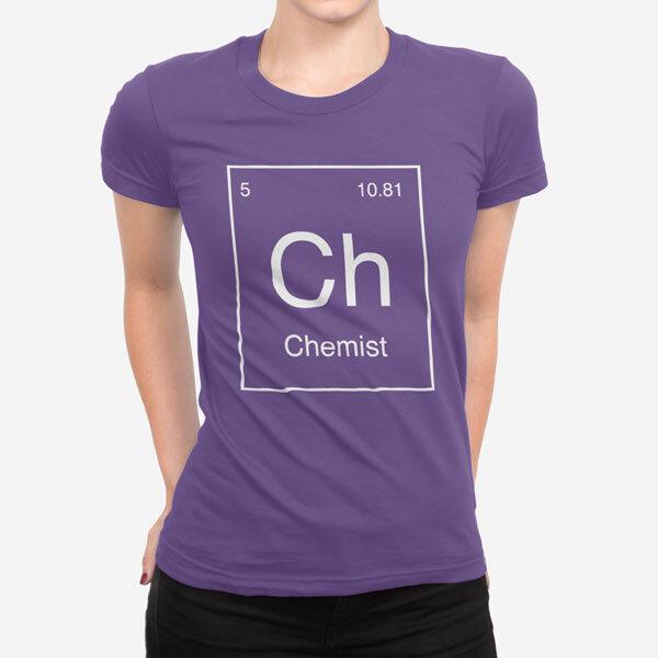 Ženska kratka majica Periodni element Ch