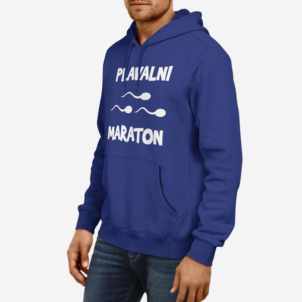 Moški pulover s kapuco Plavalni Maraton