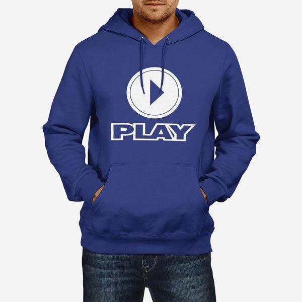 Moški pulover s kapuco Play