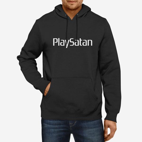 Moški pulover s kapuco PlaySatan