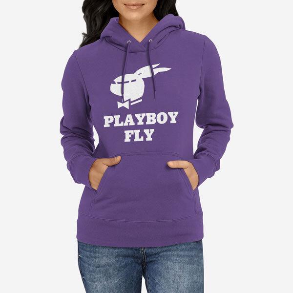 Ženski pulover s kapuco Playboy Fly