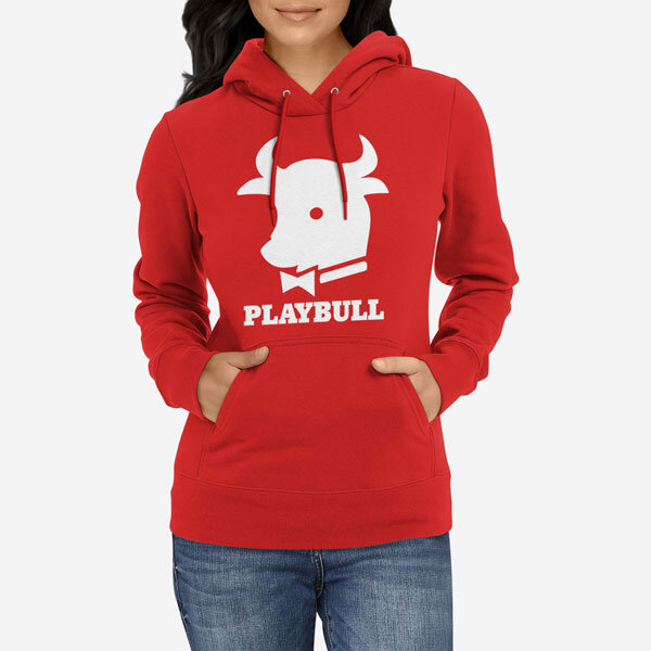 Ženski pulover s kapuco Playbull