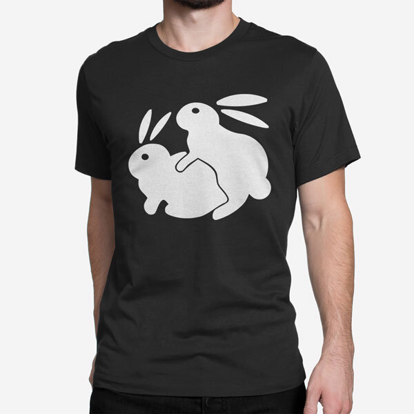 Moška kratka majica Pohotni zajec
