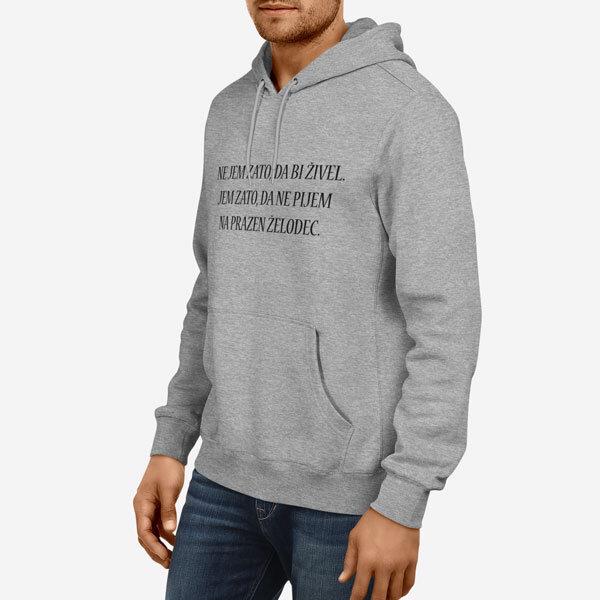 Moški pulover s kapuco Prazen želodec