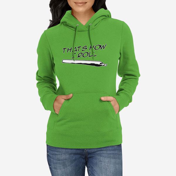 Ženski pulover s kapuco How I Roll