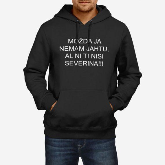 Moški pulover s kapuco Nemam jahtu