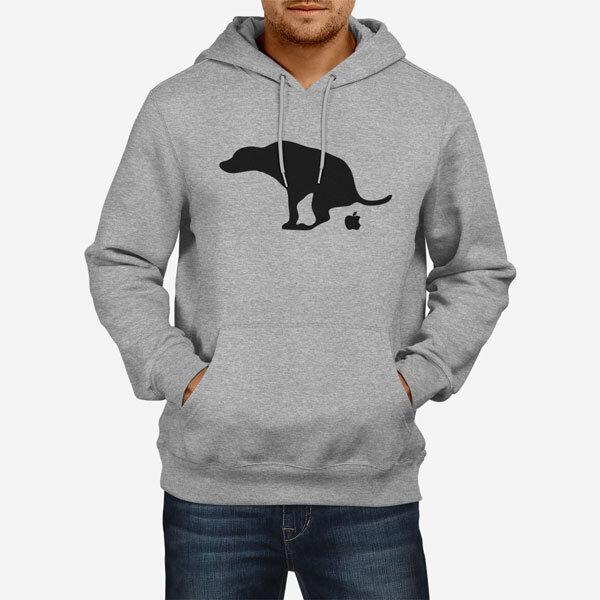 Moški pulover s kapuco Shit Apple