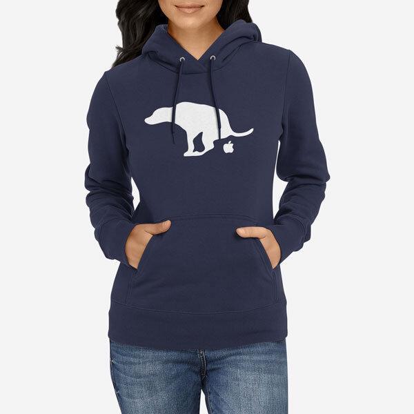 Ženski pulover s kapuco Shit Apple