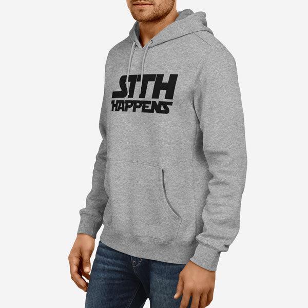 Moški pulover s kapuco Sith Happens