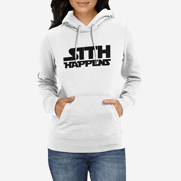 Ženski pulover s kapuco Sith Happens